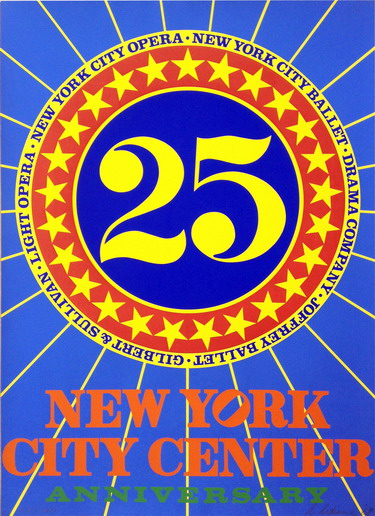 robert indiana new york city center 25th anniversary